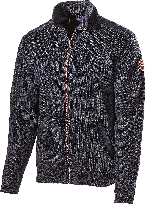 Holebrook Men's Gregor Full Zip Wool Sweater Grey