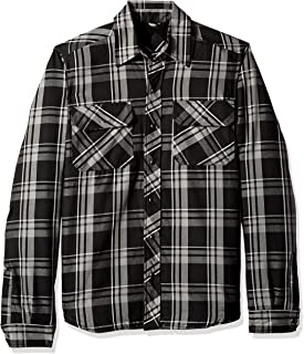 dickies Men's Modern Fit Snap Front Shirt Jacket