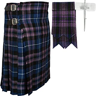 Scottish Pride Of Scottland Tartan Kilt FREE Flashes & Kilt Pin