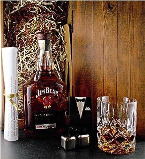 Geschenk Jim Beam Single Barrel Bourbon Whiskey  Glas  2 Whisky Kühlsteine