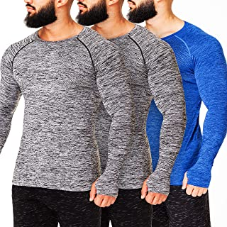 Kamo Fitness Long Sleeve Top - Baselayer That Will Keep You Warm & Active.Performance Fit & Quick-Drying Fabric.