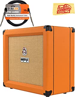 Orange Crush 35RT Guitar Combo Amplifier Bundle with Instrument Cable and Austin Bazaar Polishing Cloth