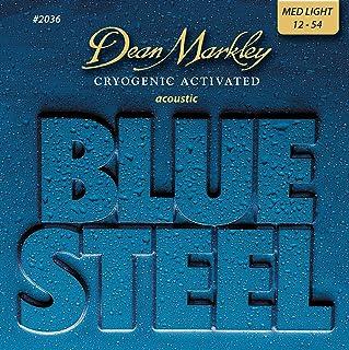Dean Markley Blue Steel Acoustic ML 2036 - Juego de cuerdas para guitarra acústica de acero.012 - .054