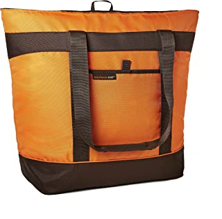Rachael Ray Jumbo ChillOut Thermal Tote Bag for Grocery Shopping, Transport Cold or Hot Food, Extra-Large  Capacity, Insulated, Reusable, Orange