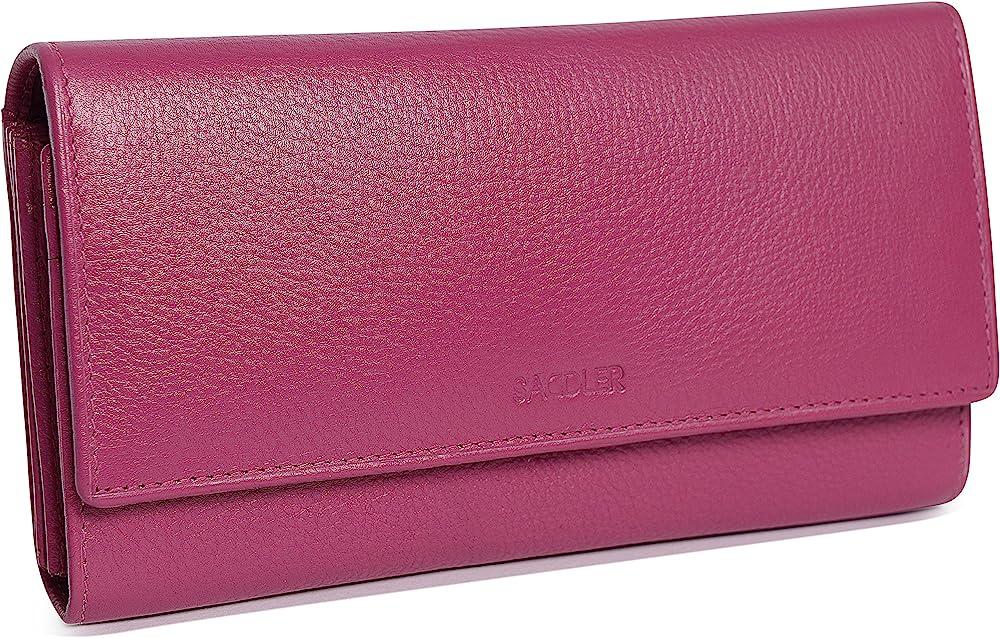 Saddler portafoglio porta carte di credito da donna in pelle SADDL-2044-MAG