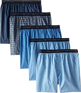 Men's 5-Pack Printed Woven Exposed Waistband Boxers...