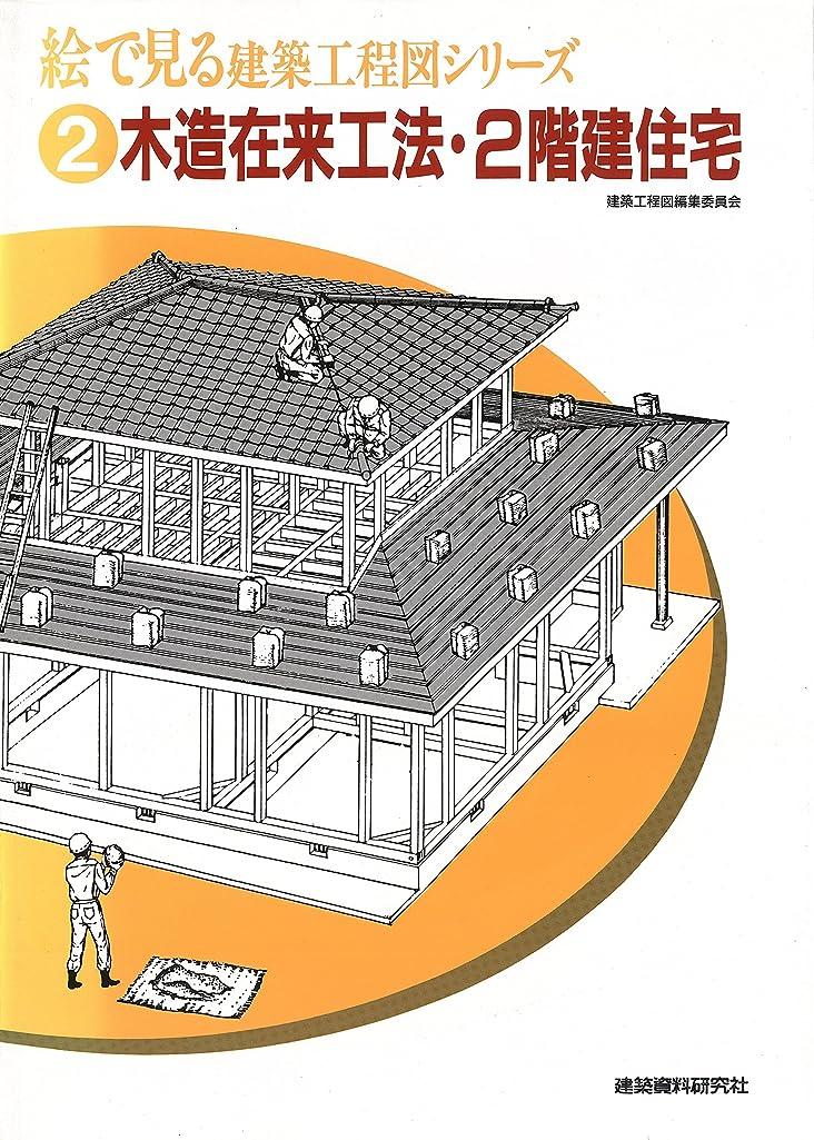 戸惑う純粋な詳細な木造在来工法?2階建住宅 (絵で見る建築工程図シリーズ)