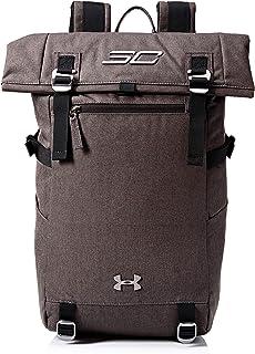 حقيبة ظهر من Under Armour للجنسين مطبوع عليها SC30 Signature Rolltop ، أسود منقط بالكامل (002)/رمادي، مقاس واحد يناسب الجميع
