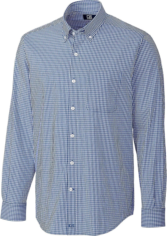 割り引き 新作からSALEアイテム等お得な商品 満載 Cutter Buck Men's Shirt Anchor Gingham
