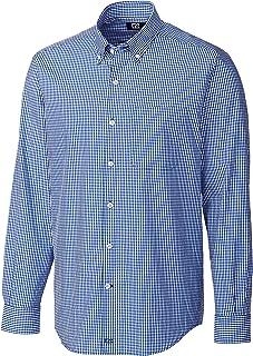 Cutter & Buck Mens Men's Anchor Gingham Shirt Button Down Shirt