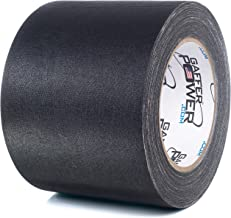 Real Professional Premium Grade Gaffer Tape by Gaffer Power - 4 Inch X 30 Yards, Black- Made in The USA - Heavy Duty Gaffers Tape - Non-Reflective - Multipurpose - Better Than Duct Tape!