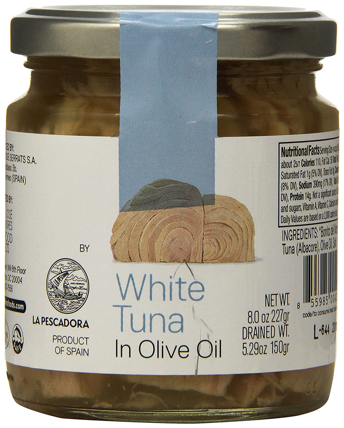 Jose Andres Foods White Tuna in Olive Oil Jar, 8 Ounce