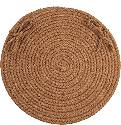 Solid Chair Pad, Light Brown