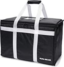Food Delivery Bag | Insulated for Grocery Travel Tote, Commercial Meal Prep, Catering and Restaurant Service | Professional Quality | Multi-Purpose Thermal Carrier for Hot and Cold - by Black Willow