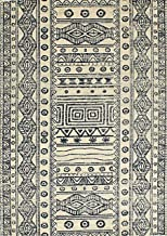 "Rugsville Charlotte Ivory Geometric Tribal Carpet 5'3"" x 7'8"""