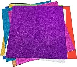 グリッター シート シールタイプ キラキラ 自由に切って 手芸材料 10色セット (30 x 30cm)