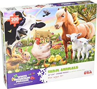 White Mountain Puzzles 1368 Farm Animals Puzzles, 300 Piece