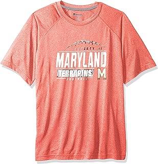 NCAA Maryland Terrapins Mens NCAA Men's Short Sleeve Football Season Jersey Teechampion NCAA Men's Short Sleeve Football Season Jersey Tee, Athletic Red, Small