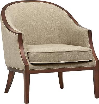 """Amazon Brand – Stone & Beam Ashbury Modern Exposed Wood Accent Chair, 29""""W, Hemp"""