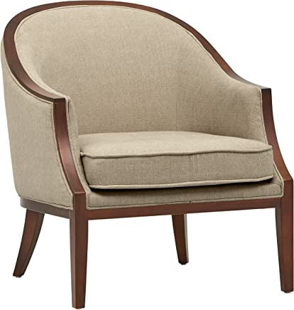 Stone & Beam Ashbury Modern Exposed Wood Accent Chair,  29W,  Hemp