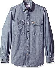 Carhartt Men's Fort Lightweight Chambray Button Front Relaxed Fit LS Shirt S202