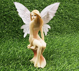 Fairy Garden Fairy - Garden Girl for Outdoor or House Decor, Hand Painted Resin Figurines, for Garden Indoor Decor Gift Style B