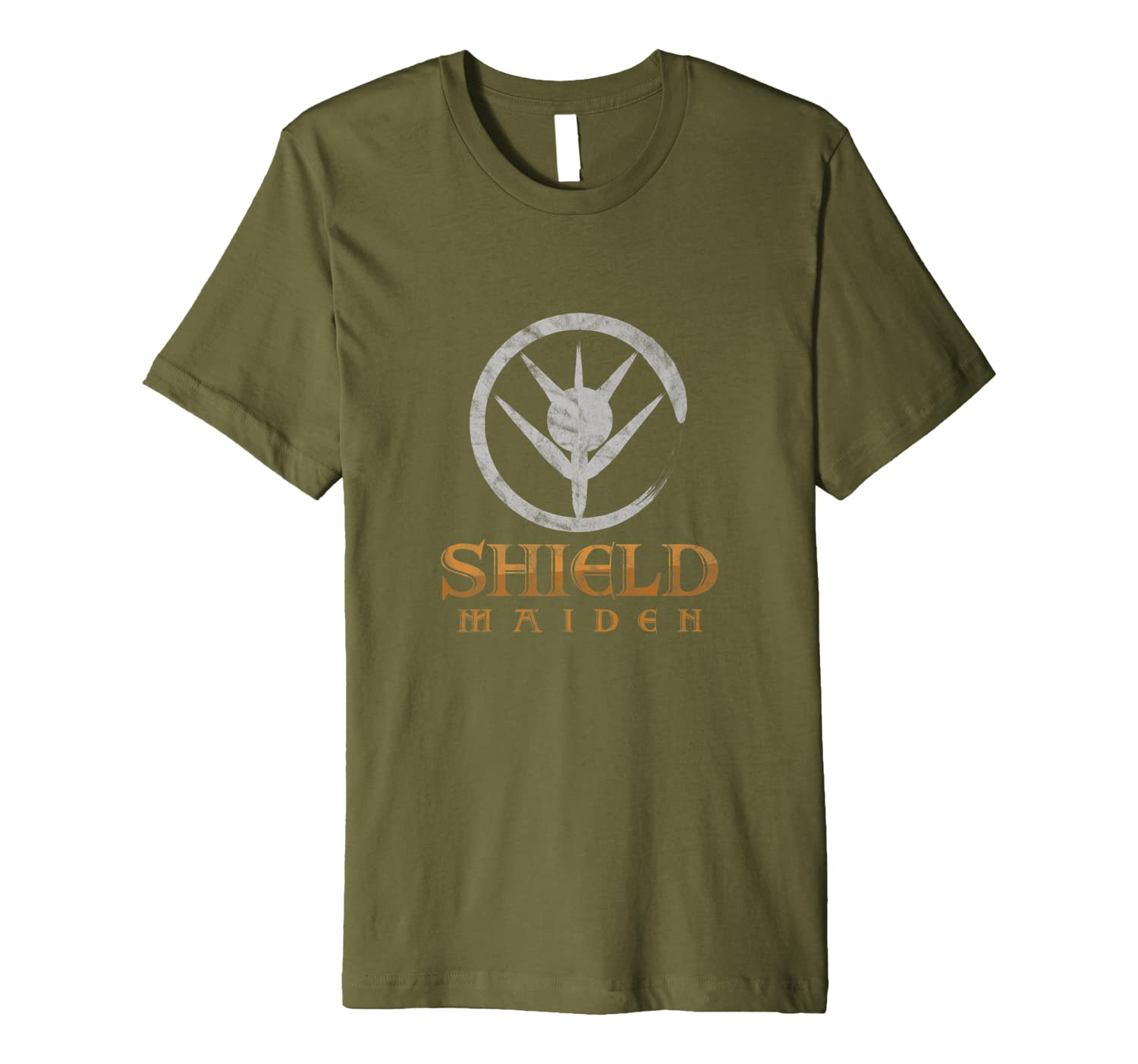 Norse Mythology Viking Shield Maiden Scandinavian Premium T-Shirt-TH