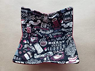 Coffee Microwave Cozy Sweet Perculator Soup Buddy Cafe Latte Cup of Joe Reversible Microwaveable Bowl Huggie Chalkboard Daily Cuppa Handmade Housewarming Hostess Teacher Gifts Under 10