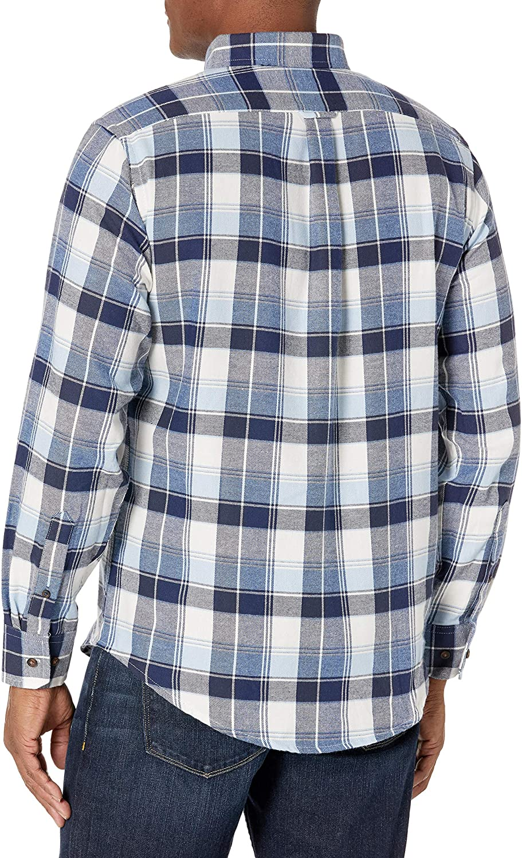 Izod Mens Advantage Performance Flannel Long Sleeve Stretch Button Down Shirt
