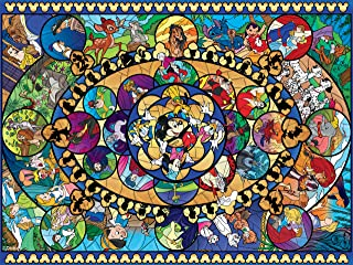 Ceaco 3402-4 Disney Oval Stained Glass Puzzle - 1500Piece