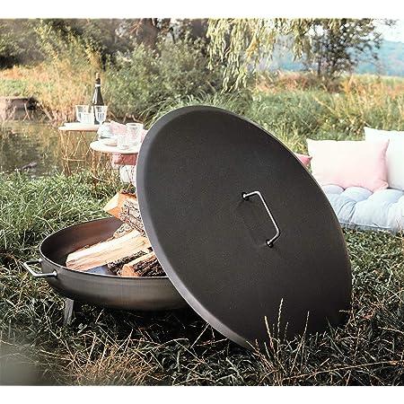 Czaja Stanzteile Couvercle pour tous les braseros ; facile à éteindre sans eau et à protéger contre la pluie (acier, Ø 80 cm).