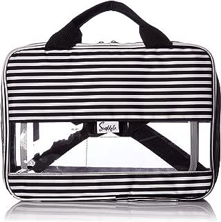 Simplily Co. Packing Cube Folder Compact Travel Organizer Bag (Black & White Stripes, Medium)
