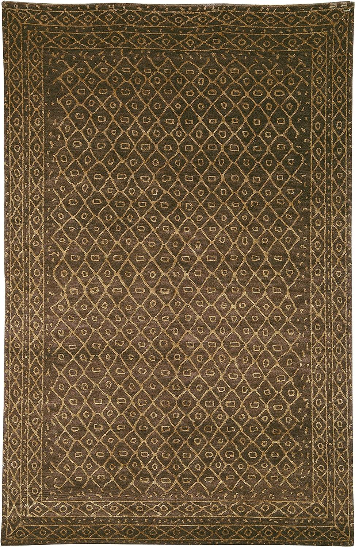 Amazon Com Safavieh Tibetan Collection Tb231a Hand Knotted Modern Premium Silk Wool Area Rug 3 X 5 Green Furniture Decor