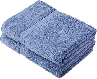 (Wedgewood) - Pinzon by Amazon - Egyptian Cotton Towel Set, 2 Bath Towels - Wedgewood, 600gsm