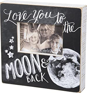 Primitives by Kathy Chalk Art Box Frame, 10 x 10-Inches, Moon and Back
