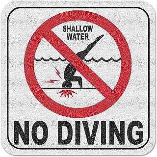 بلاط مخصص مائي من الفينيل 3M لاصق لحمام السباحة علامات العمق الدولية لا الغوص عدم الانزلاق