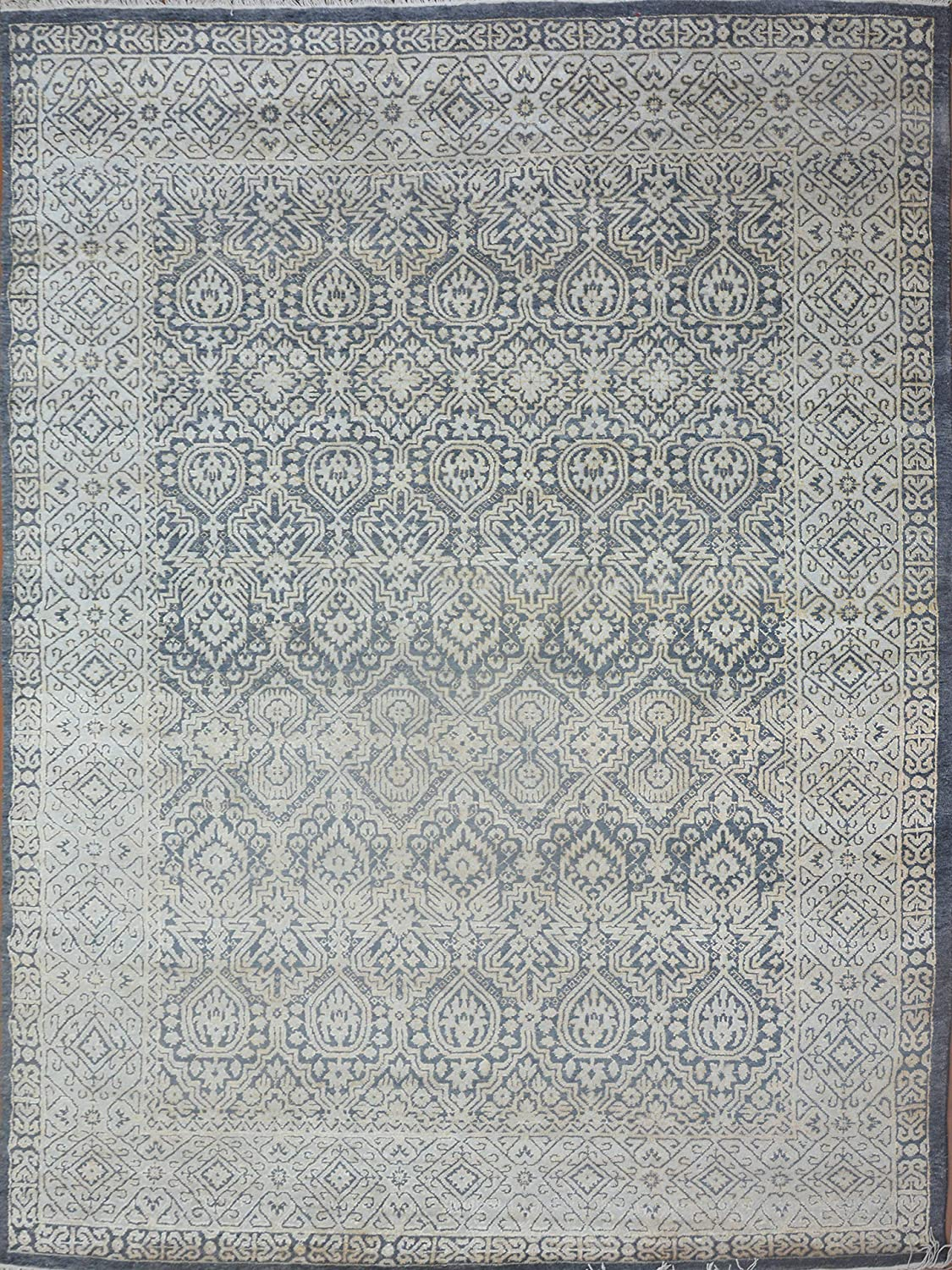 BLACK KNIGHT RUGS Modern Luxury Hand Max 62% OFF Wool Rug supreme 9'6X1 Area Knotted