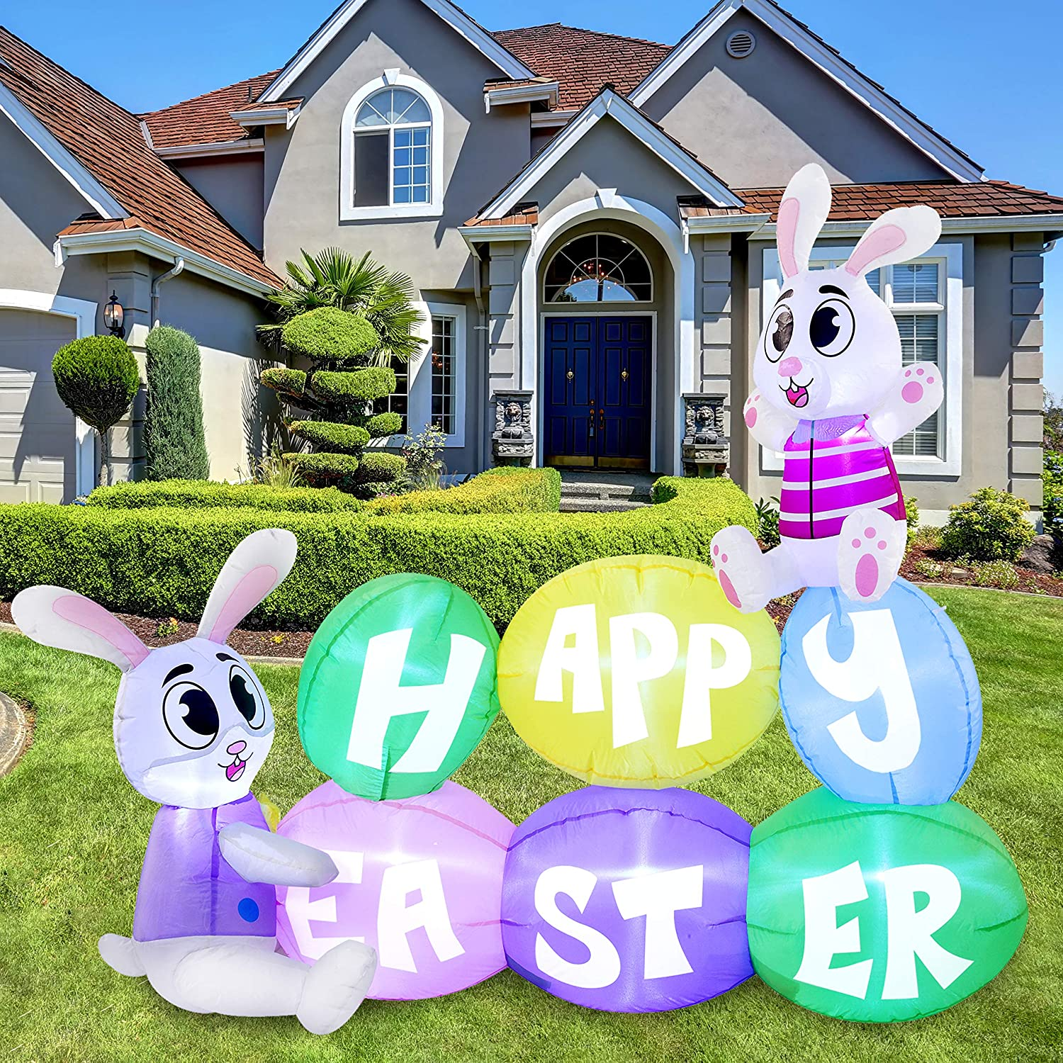 Joiedomi Easter Inflatable Max 61% OFF Outdoor Decorations Happy E ft 6 National products Long
