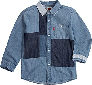 Levi's Boys Long Sleeve One Pocket Button Up Shirt