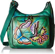 Anna by Anuschka Women's Genuine Leather Large Hobo Handbag | Zip-Top Multi-Compartment Tall Organizer