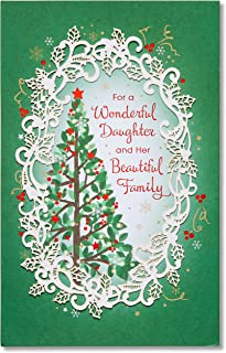 American Greetings Christmas Card for Daughter and Family (Christmas Tree)