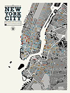 Pop Chart The Distinguished Drinkeries of New York City Poster Print, 18
