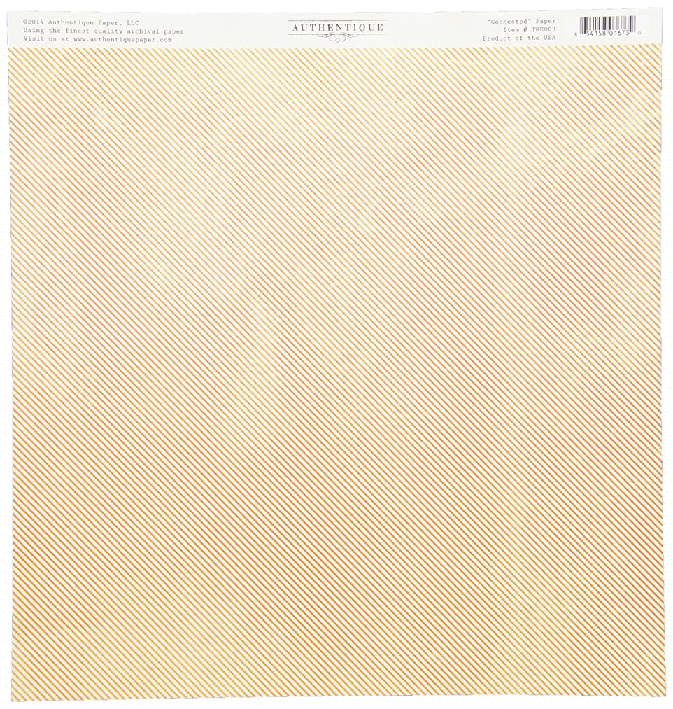 Authentique Paper Treasure Double-Sided Cardstock, 12 x 12-Inch, Connected Tulip Tablecloth/Thin Stripe ug5749845