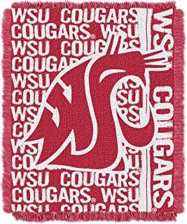Officially Licensed NCAA Double Play Jacquard Throw Blanket, 48