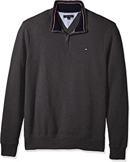 Men's Big and Tall 1/4 Zip Pullover Sweater