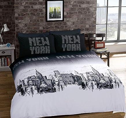 Piumone Matrimoniale New York.Amazon It Copripiumino Matrimoniale New York Casa E Cucina