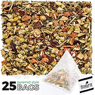 Tealyra - Healthy Edge - 25 Pyramids Bags - Detox - Immunity Booster - Weight Loss - Herbal Loose Leaf Tea Blend - Pu-Erh - Mate - Oolong Tea - Caffeine Low - All Natural - 25 Sachets