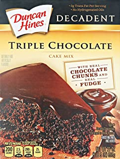 Duncan Hines Triple Chocolate Decadent Cake Mix - 21 oz