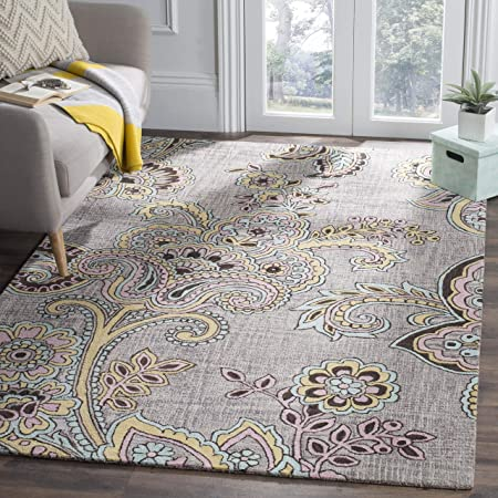 Safavieh Allure Collection Alr310a Handmade Paisley Premium Wool Area Rug 8 X 10 Grey Gold Furniture Decor