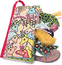 Jellycat Soft Cloth Baby Books, Unicorn Tails, 8 inches